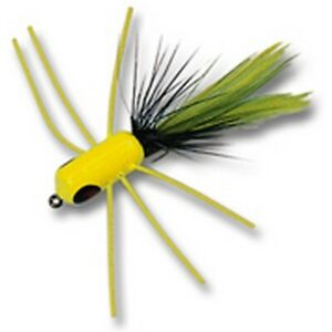 Betts 51S-10 Fire Shimmy Chartreuse Black Sz 10 Fly Popper Fishing Lure