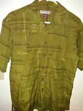 "Kahala 1936 ™ Men's 50% Rayon 25% Cotton Button-up Shirt Outrigger S 22"" P2P EUC"