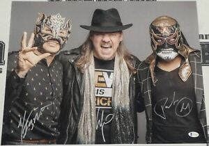 Chris Jericho & Pentagon Jr Rey Fenix Signed 16x20 Photo BAS Beckett COA AEW WWE