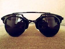 Negro De Gran Tamaño uni-sexo Geek Retro Vintage Gafas de sol de moda 60s 80s