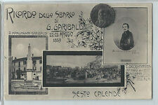 CARTOLINA RICORDO DELLO SBARCO DI G. GARIBALDI SESTO CALENDE 38/A