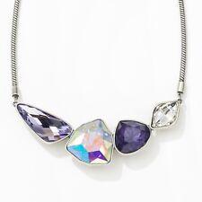 Touchstone Crystal by Swarovski Purple Sky Statement Necklace  New