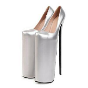 Women's Platform High Heel Non-Slip Large Size Round Toe Height-Increasing Shoes