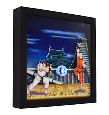 """Super Street Fighter 2 (Ryu Stage) - 3D Shadow Box Frame (9"""" x 9"""")"""