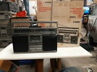 GE General Electric 3-5252 AM/FM Stereo Cassette Boombox Very Clean & Tested