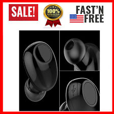 Mini Bluetooth Earbud Wireless Small Invisible Sport Headphone Music Time 10 Hr