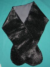 Gray Leopard Faux Fur Stole Check Lining for My Size Barbie or Small Child Myc20