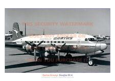 QANTAS AIRWAYS DOUGLAS DC-4 DC4 SKYMASTER A3 PICTURE IMAGE POSTER PRINT x