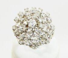 2.00 CT NATURAL ROUND DIAMOND RING  14K WHITE GOLD SIZE 6.5