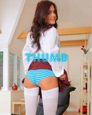 India Reynolds - 10x8 inch Photograph #015 in Blue Pants & White Stockings