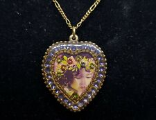 necklace Lovely Michal NEGRIN crystals Swarovski heart shape made in Israel 5707