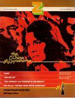 Z Movie Magazine Nov Dec 1979 China Syndrome Hair Exorcist Woody Allen Disney