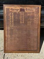 Chicago Tribune Abraham Lincoln Assassination April 15 1865 on Copper Plate Rare