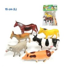 6 PCS Farm ANIMALS TOY SET FIGURINES Pretend Play KIDS CHILDREN PRSECHOOL