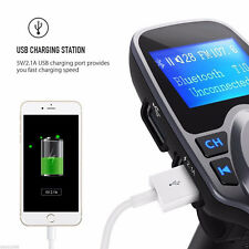 Bluetooth Wireless Car MP3 MP4 Player FM TRANSMITTER Radio Adapter USB Charge ^