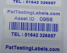 BULK * 5000 COLORE BLU PERSONALIZZATO CODICE A BARRE attività Etichette Adesivi Scratch Proof