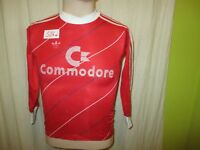 "FC Bayern München Adidas Langarm Kinder Trikot 1985/86 ""Commodore"" Gr.152 (XS)"