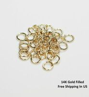 14 K GOLD FILLED Jump Ring  8 MM O/D( 19 Ga Wire - Pkg Of 10 ) Saw Cut #F881