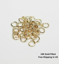 14 K GOLD FILLED Jump Ring 5 MM O/D( 20 Ga Wire - Pkg Of 10 ) Saw Cut #F581