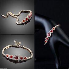 Modeschmuck-Armbänder im Ketten-Stil aus Metall-Legierung mit Kristall