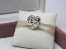 New Pandora w/Hinge Box Heart of the Family w/ 14kt Gold Heart Charm #796265 Mom