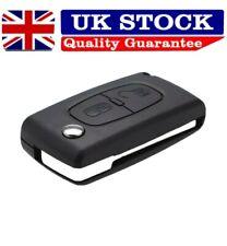 Peugeot Remote key 2 Button Flip Key Fob Case Shell VA2 Blade 108 207 308 3008