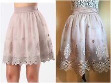 Bebe Eyelet Circle Skirt Size 4