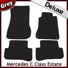 Tailored LUXURY 1300g Carpet Mats for Mercedes C-Class Estate 2000-2007 GREY