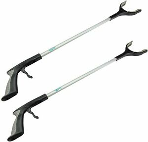 """Vive Reacher Grabber - 32"""" Mobility Aid Arm Extension 2 Pack (Opened Box)"""
