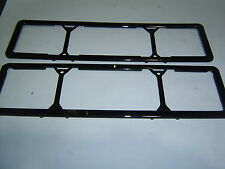 VIC, QLD SA Black Slimline Number Plate Surrounds 2nd Type  Sent Registered Post