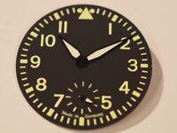 Big Pilot Flieger Aviator dial and hands for ETA Unitas 6498-1 6498-2