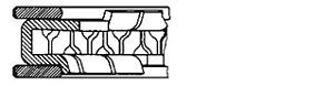 1x New Genuine Goetze 08-104200-00 Piston Ring Set
