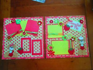 PREMADE SCRAPBOOK PAGES - SWEETIE PIE - 12 X 12 - NEW