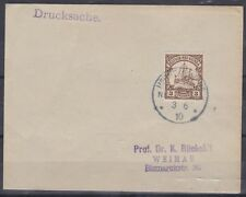 """GNG3) German New Guinea 1910 clean """"Bantam""""l cover to Weimar"""