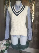 RALPH LAUREN CABLE-KNIT VEST SIZE S