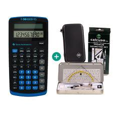 TI 30 ECO RS Taschenrechner + Schutztasche und GeometrieSet