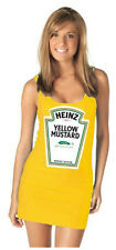 Choose Color Juniors Heinz Mustard Or Ketchup Bottle Costume Tank Dress