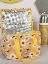 Bee and daisy cooler lunch box bag ladies girls school lunch picnic gift food