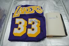 Kareem Abdul Jabbar Signed Autographed Jersey & Signed Book Los Angeles Lakers