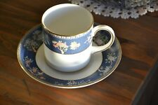 """Wedgwood """"BLUE SIAM"""" Coffee Can and Saucer - UNUSED!"""