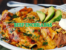 """BEEF ENCHILADAS 24""""x18"""" LARGE HANGING COUNTER WALL FOOD SIGNS"""