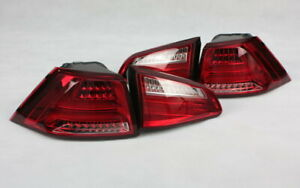 LED BAR Luces Traseras F. VW (VII) Golf 7 Limo Rojo Claro Cristal Lightbar