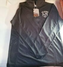 NWT NHL LA Los Angeles Kings Hockey Heathered Charcoal Gray Top Zip Jacket S
