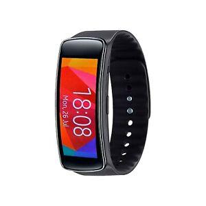Samsung Galaxy Gear Fit SM-R350 SmartWatch Bluetooth Black Pedometer Unlocked uk