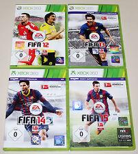 4 XBOX 360 giochi collezione FIFA 12 13 14 15-CALCIO SOCCER FOOTBALL (16 17)