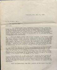 1917 two page Letter from Richmond regarding Mines at Mariposa CA