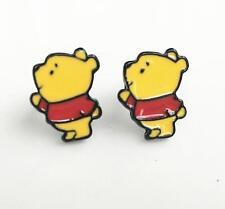 Pooh the winnie big head metal earring ear stud earrings studs cartoon unisex