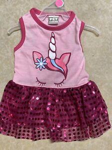 PET SPIRIT Pink Sparkle Skirt 'UNICORN'  DRESS  Puppy/Dog small
