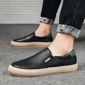 Mens Casual Comfy Round Toe Loafers Pumps Flats Outdoor Driving Moccasins Shoes