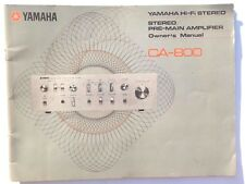 VTG Factory YamahaCA-800 Hi-Fi Stereo PRE-MAIN Amplifier Amp Owner's Manual